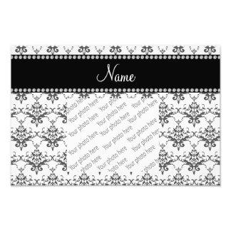 Personalized name White damask Photo