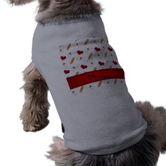 Personalized name white nurse pattern pet clothing