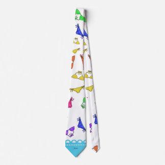 Personalized name white rainbow bikinis tie