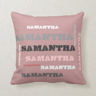 Personalized NAME wordcloud gifts Throw Pillow