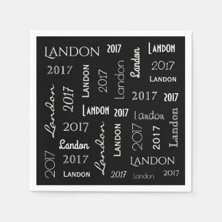 Personalized Name & Year Graduation Disposable Napkin