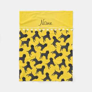 Personalized name yellow affenpinscher dogs fleece blanket