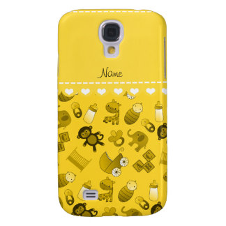 Personalized name yellow baby animals