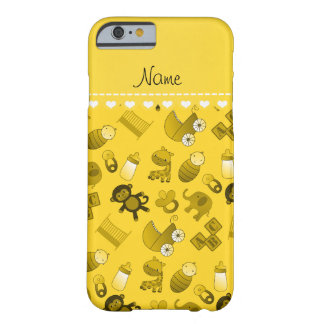 Personalized name yellow baby animals barely there iPhone 6 case