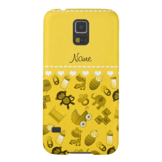 Personalized name yellow baby animals cases for galaxy s5