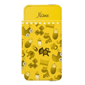 Personalized name yellow baby animals incipio watson™ iPhone 5 wallet case