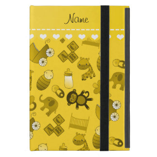Personalized name yellow baby animals iPad mini cases