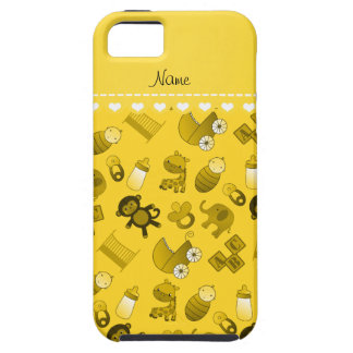 Personalized name yellow baby animals iPhone 5 covers