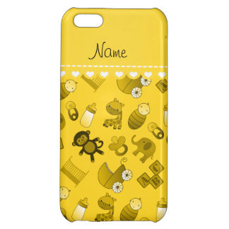 Personalized name yellow baby animals iPhone 5C cases