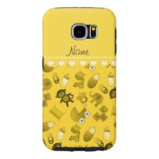 Personalized name yellow baby animals samsung galaxy s6 cases