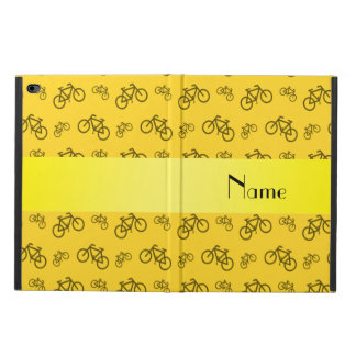 Personalized name yellow bicycle pattern