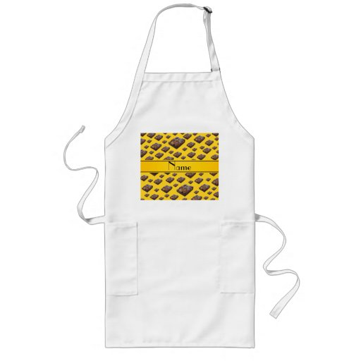 Personalized name yellow brownies apron