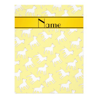 Personalized name yellow bull terrier dogs full color flyer