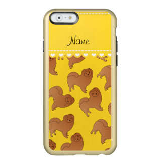 Personalized name yellow chow chow dogs incipio feather® shine iPhone 6 case