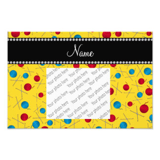 Personalized name yellow crochet pattern photograph