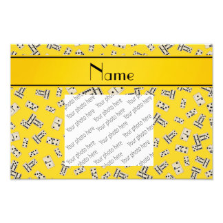 Personalized name yellow dominos art photo