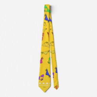 Personalized name yellow rainbow bikinis tie