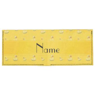 Personalized name yellow rubber duck pattern tyvek® billfold wallet