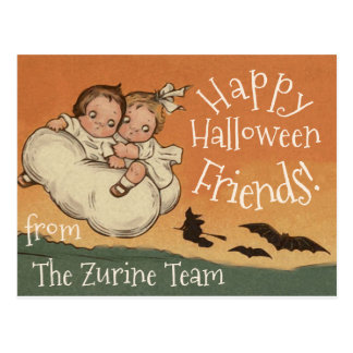 Personalized Names Postcard Vintage Cute Halloween
