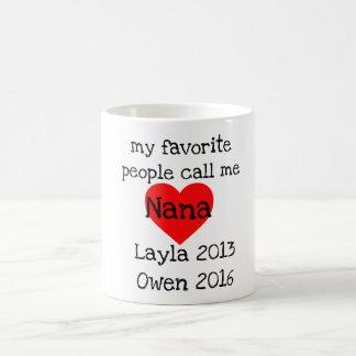 personalized nana mug with names