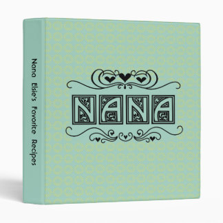 Personalized Nana Recipe or Photo Binder