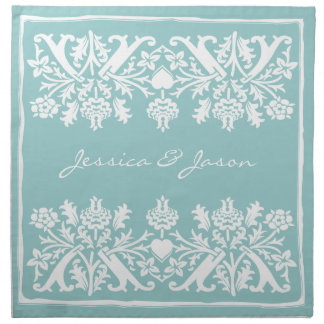 "Personalized Napkins 20"" (Set of 4) Wedgewood Blue"