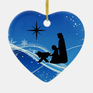 Personalized Nativity Scene Christmas Ornament