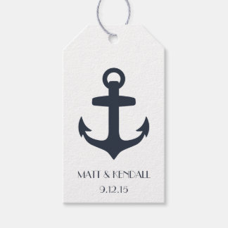 Personalized Nautical Anchor Pack Of Gift Tags