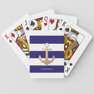 Personalized | Nautical Anchor Playing Cards