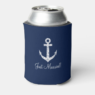 Personalized nautical anchor wedding can coolers