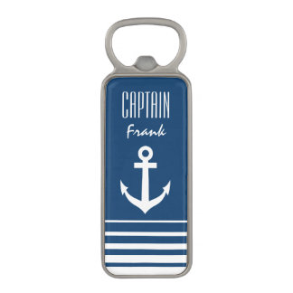 Personalized nautical boat anchor bottle opener