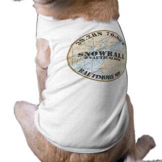 Personalized Nautical Dog Baltimore Maryland Shirt