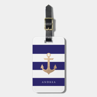 Personalized | Nautical Navy Luggage Tag