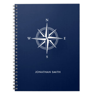 Personalized  Nautical Star Spiral Notebook