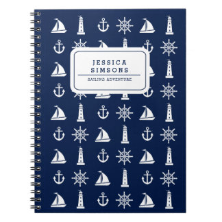Personalized Nautical Things Spiral Notebook