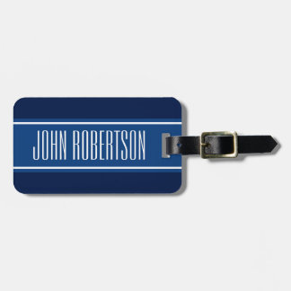 Personalized navy blue luggage tag | elegant style