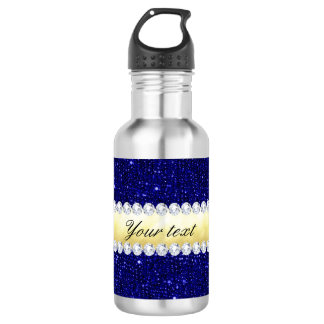 Personalized Navy Sequins, Gold, Diamonds