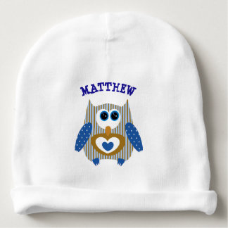 Personalized New Baby Boy Newborn Cap Baby Beanie