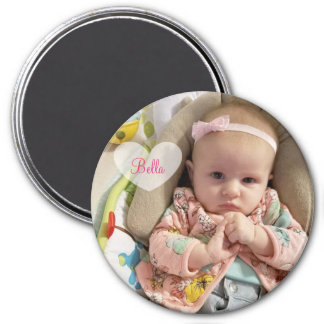 Personalized New Baby Photo and Name Magnet