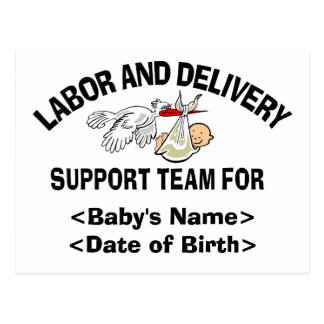 Personalized New Baby Support Team Cards Postcard