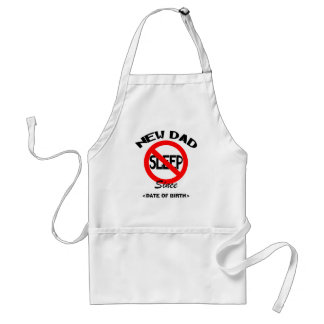 Personalized New Dad No Sleep Gift Apron