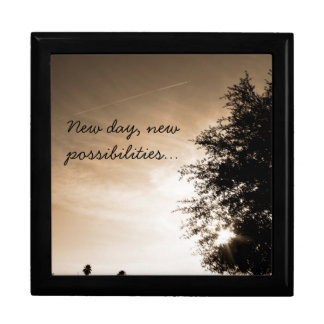 """Personalized """"New day, new possibilities"""" Gift Box"""