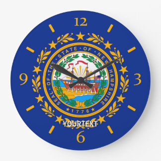 Personalized New Hampshire State Flag Design on a Large Clock
