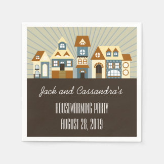 Personalized New Home Housewarming Napkins Disposable Napkin