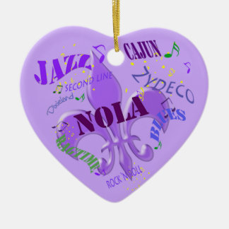 Personalized New Orleans Music Purple Ceramic Ornament