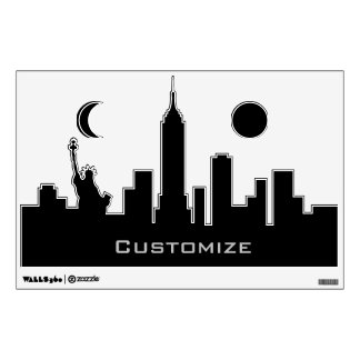 Personalized New York Skyline Silhouette Decal