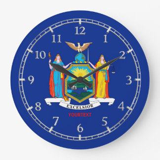 Personalized New York State Flag Design on a Large Clock