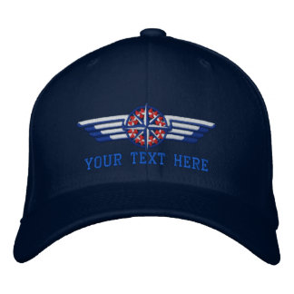 Personalized Northern Star Compass Pilot Wings Embroidered Hats