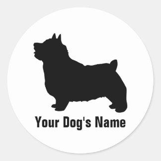 Personalized Norwich Terrier ノーリッチ・テリア Classic Round Sticker