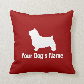 Personalized Norwich Terrier ノーリッチ・テリア Throw Pillows